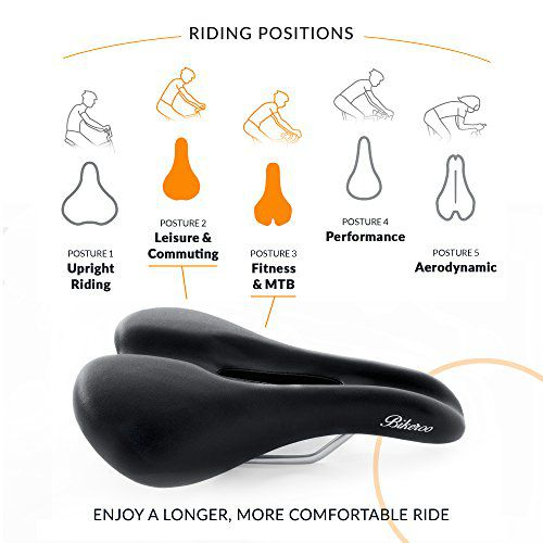 Bikeroo Mens Padded Bicycle Saddle Review